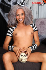 Sasha ivy  happy halloween from sasha ivy  delicious sasha ivy got into the halloween spirit in this scene see this spooky ladyboy stroking her big rough tool. Tiny Sasha Ivy got into the halloween spirit in this scene! See this spooky shemale stroking her big heavy cock!